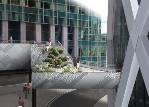 Passerelle d'accès à la tour D2 (la Défense)