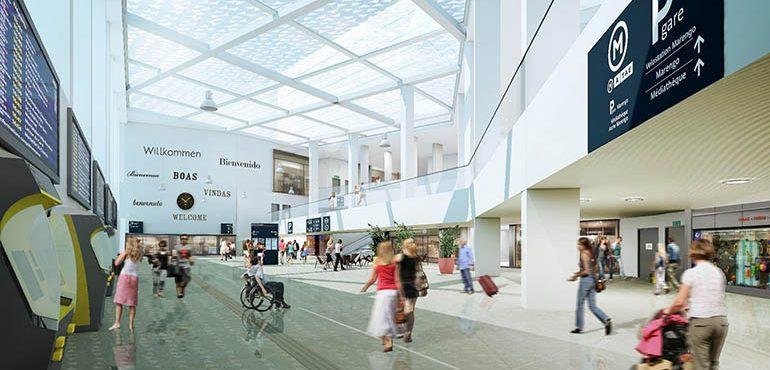 Le Hall du nouveau bâtiment voyageur