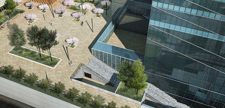 Place Iris - Perspective Vue haut BCN