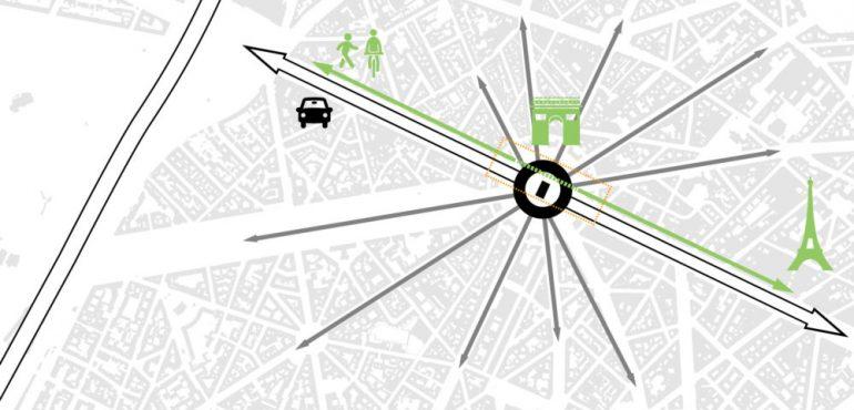 Arc de Triomphe - Tunnel Etoile_Carto_Continuité urbaine-01