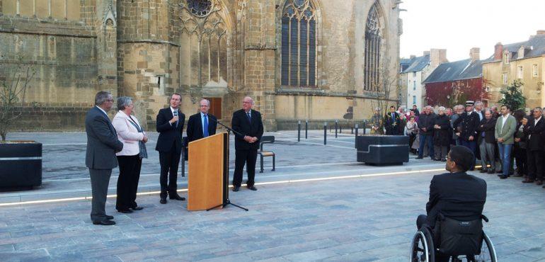 Inauguration du projet de Redynamisation du cœur de ville d'Evron (53)