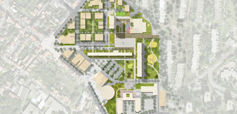 plan phase 3 GQ- Plan avec vue aérienne et arbres